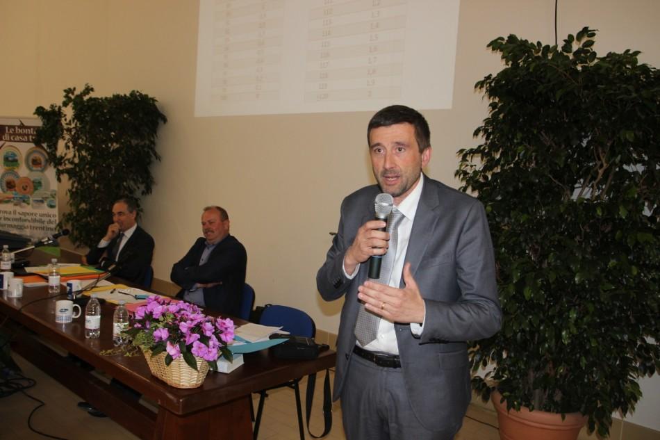 L'intervento dell'assessore provinciale all'agricoltura Michele Dallapiccola