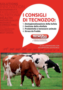 I consigli di Tecnozoo - Destagionalizzazione della bufala, gestione della vitellaia, produttività e benessere animale, stress da freddo